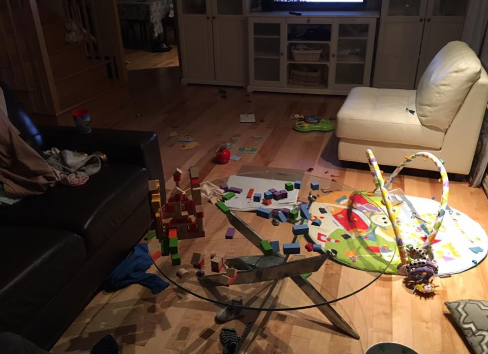 Et le 3/4 des jouets est au sous-sol!