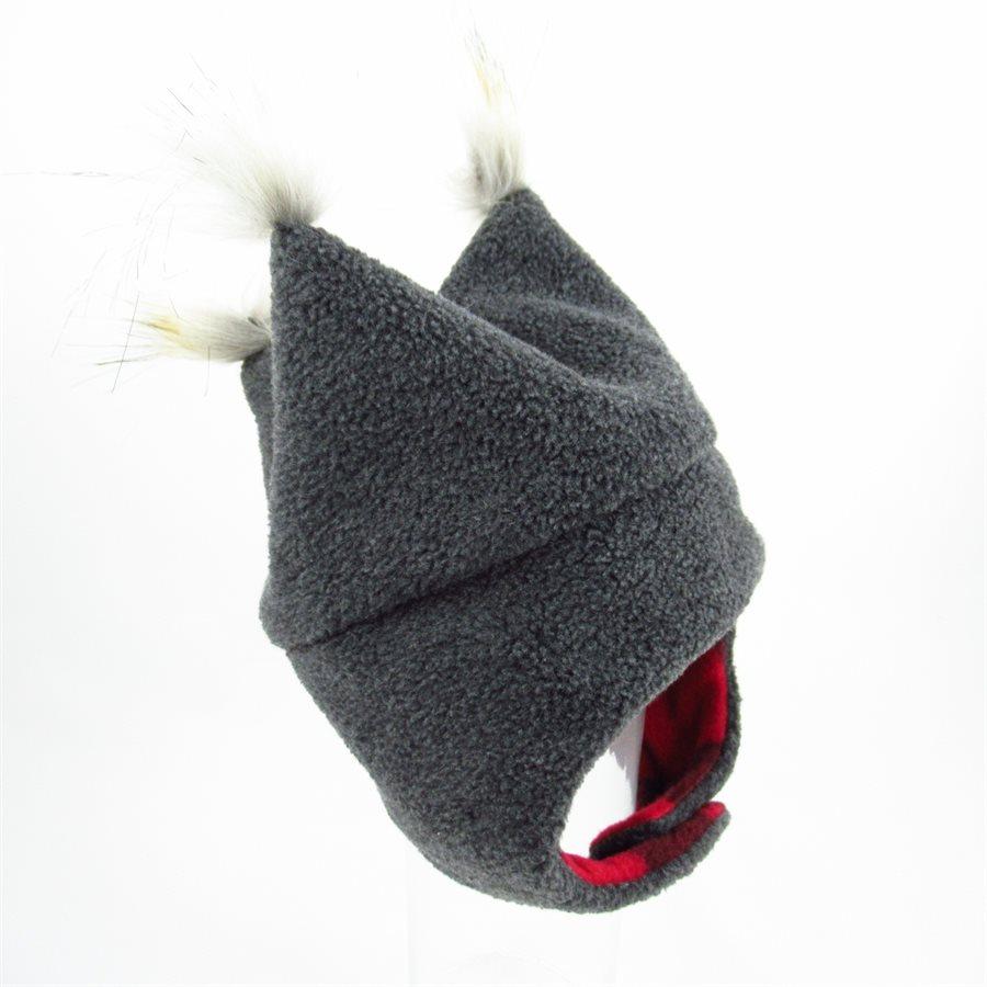 Chapeau de polar à pointes Charcoal-Carreau -Tirigolo