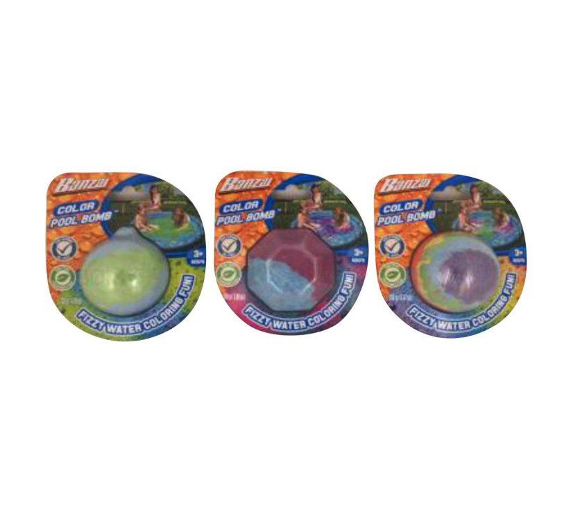 Banzai - Bombe de couleur pour piscine assorties